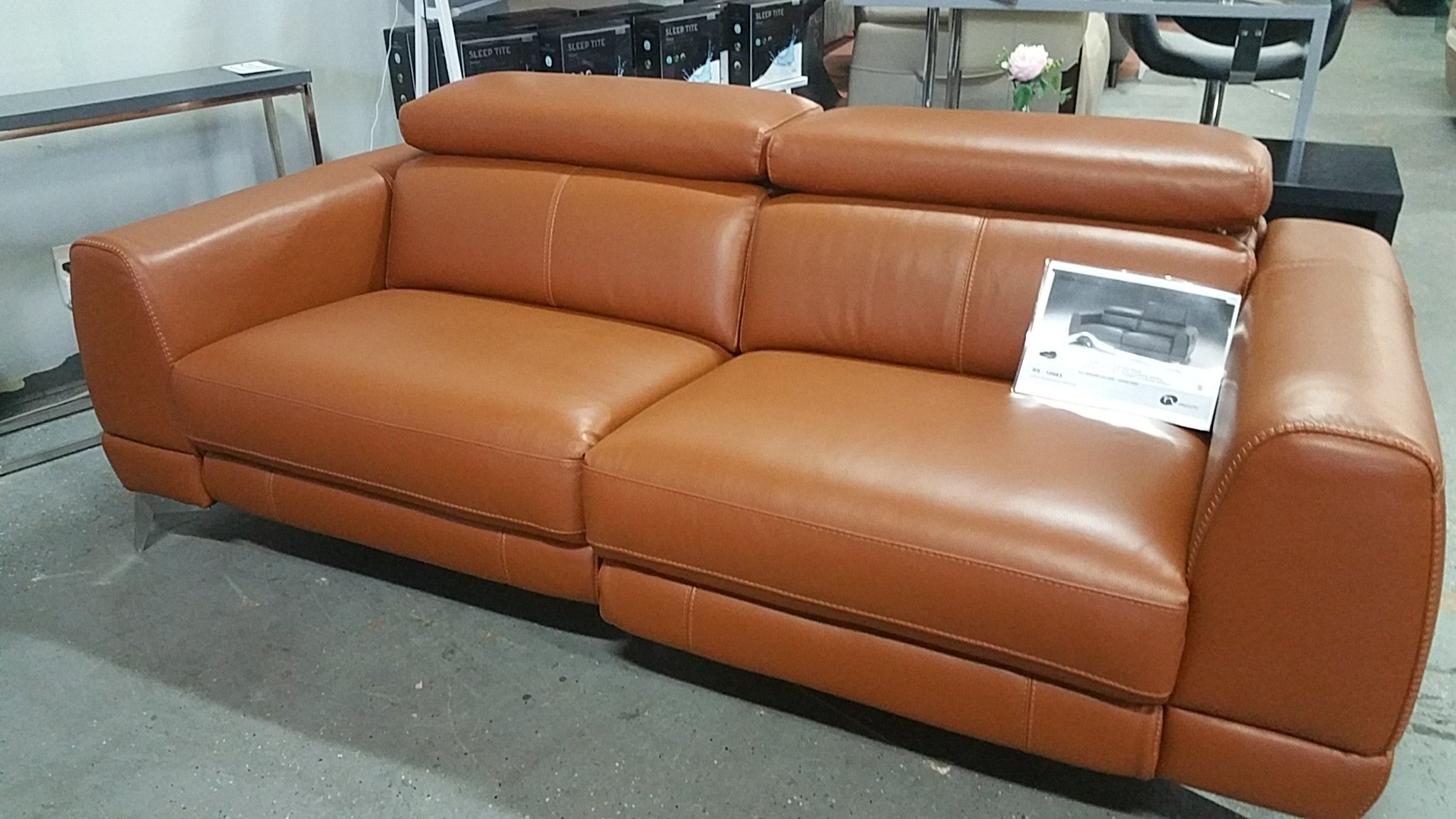 MUSE #10983 Thick Top Grain Leather Recliners Sofa ...