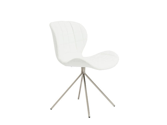 Valene Side Chair with Brushed Stainless Steel Legs