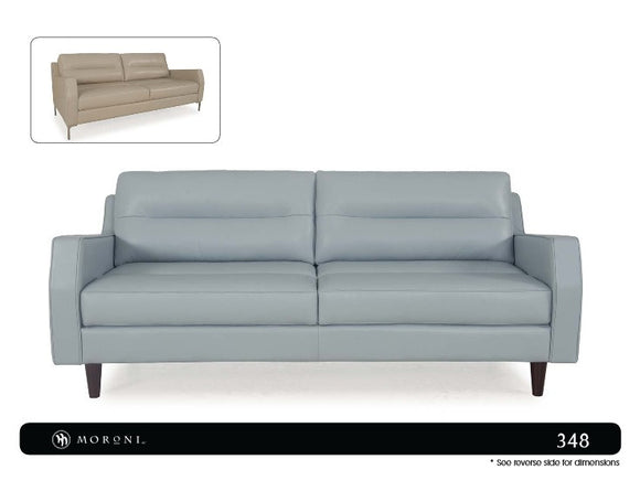Moroni 348 Isabel Full Leather Sofa