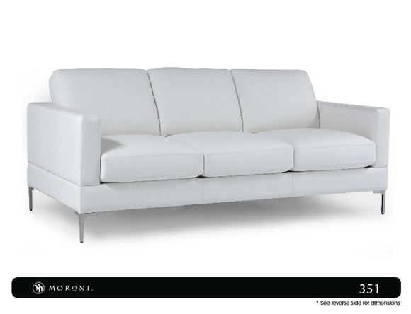 Moroni 351 Tobla Full Leather Sofa