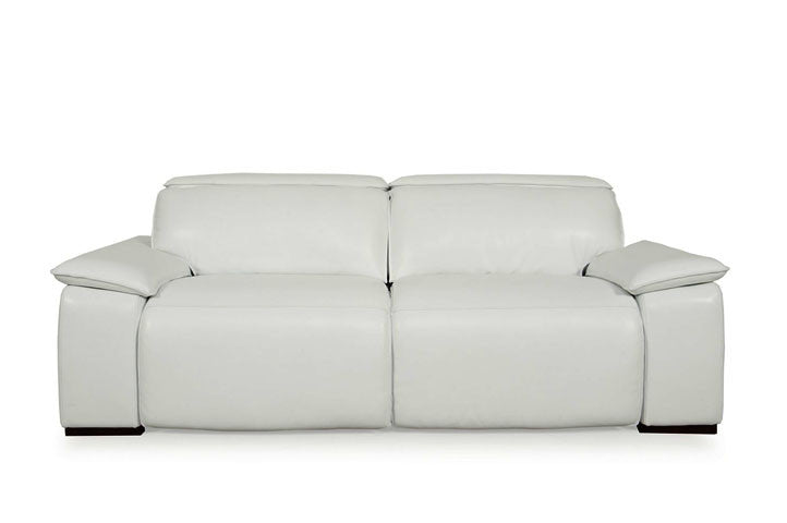 Superb Moroni 568 Full Top Grain Leather Sofa With Double Power Pdpeps Interior Chair Design Pdpepsorg