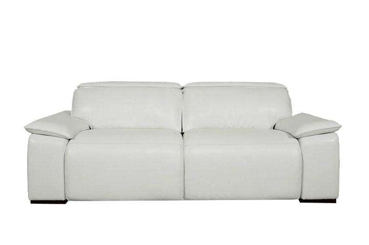 Moroni 568 Full Top Grain Leather Sofa With Double Power