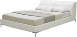 KUKA B526 Modern Upholstered Platform Bed with Adjustable Headrests