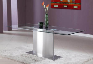 Cii T806 Stainless Steel Pedestal Base Dining Table Eurohaus