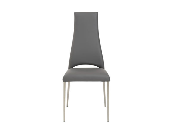 Tara Side Chair w/Brushed Stainless Steel Legs