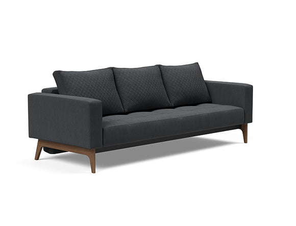 Cassius Quilt Dark Wood Sofa Bed