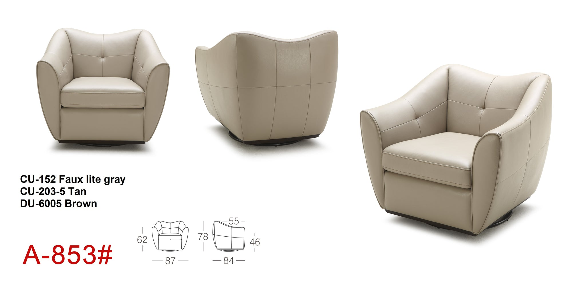 Chocolate Brown Accent Chairs.Euro A853 Swivel Accent Chair Chocolate Color