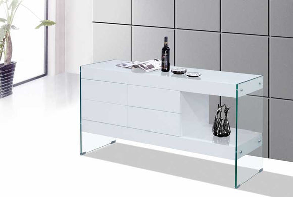EURO-BQA15 White or Gray Lacquer Server