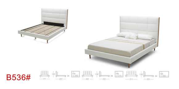 Eo-leather Platform Bed B536