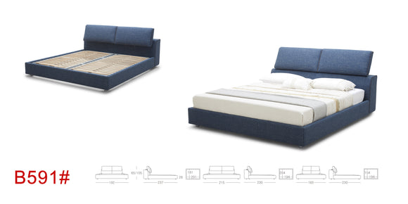 EURO Platform Bed KTOUCH B591 King size