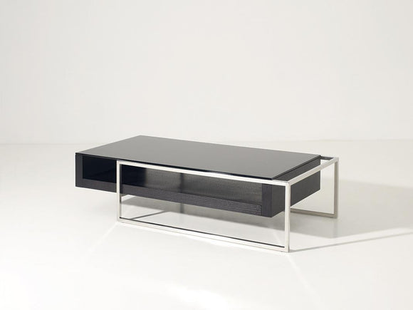 VG-Garnet Modern Oak and Glass Coffee Table