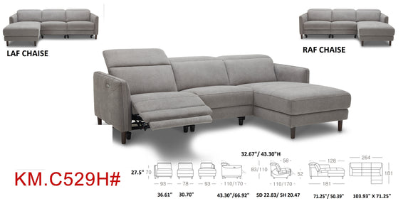EMF #529 Leather Recliner Collection