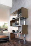 "Modern Bookcase MD105 51""W"