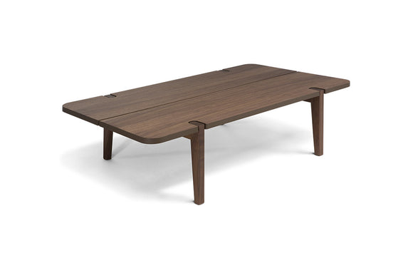 Natuzzi Merlot Walnut Coffee Table