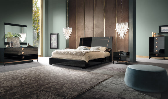 Made In Italy -ALF Italia Mont Noir Bedroom Casegoods