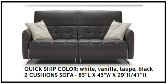 Estro Milano - New Triumph Leather Sofa