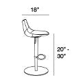 Rudy Leather Adjustable Height Barstool