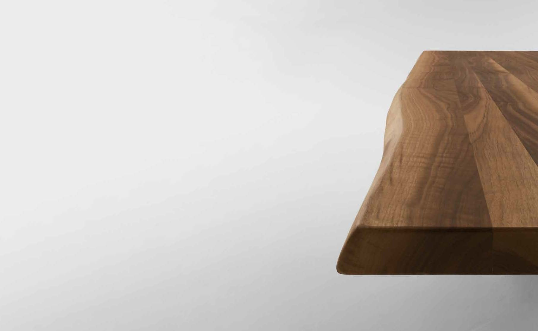 ... Tonin Casa   Italy   Tokyo Fixed Solid Walnut Table Top With Marble  Base ...