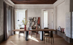 Tonin Casa - Italy- floor Sample Sale - Venezia  Extendable Walnut Dining Table