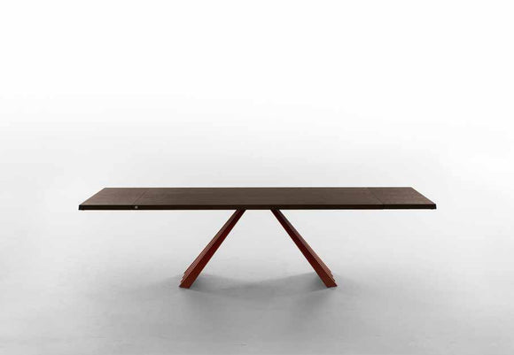 TONIN CASA - Made in Italy - Ventaglio Extendable Wood top Dining Table
