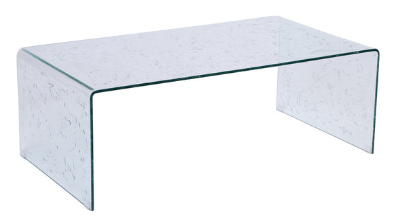 Raindrops Tempered Glass Coffee Table
