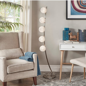 Arch Floor Lamp with Wired Shades