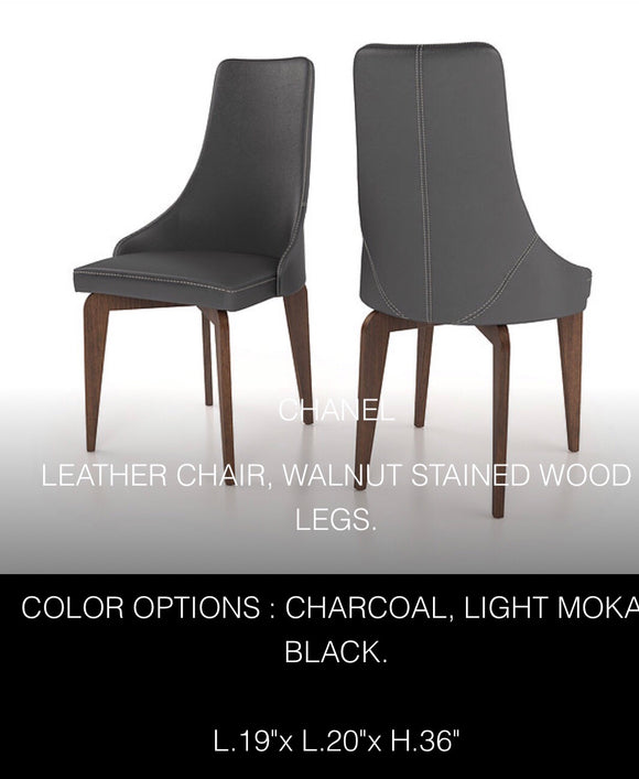 Genuine Leather - Colibri Chanel Dining chair