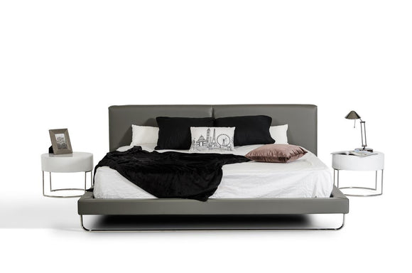 VG-Ramona Gray Leatherette Bed