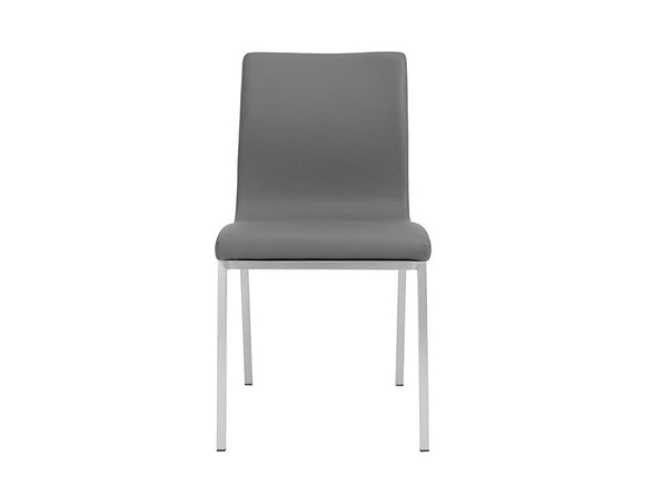 Scott Side Chair with Brushed Stainless Steel Legs