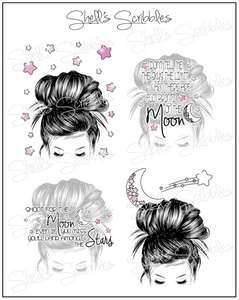 Scribbles - Planner Girl Full Boxes - Shoot for the Moon