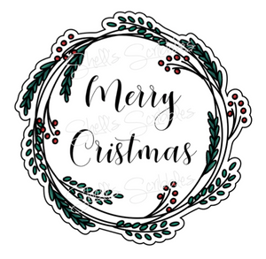 Sticker Die Cut - Christmas Wreath