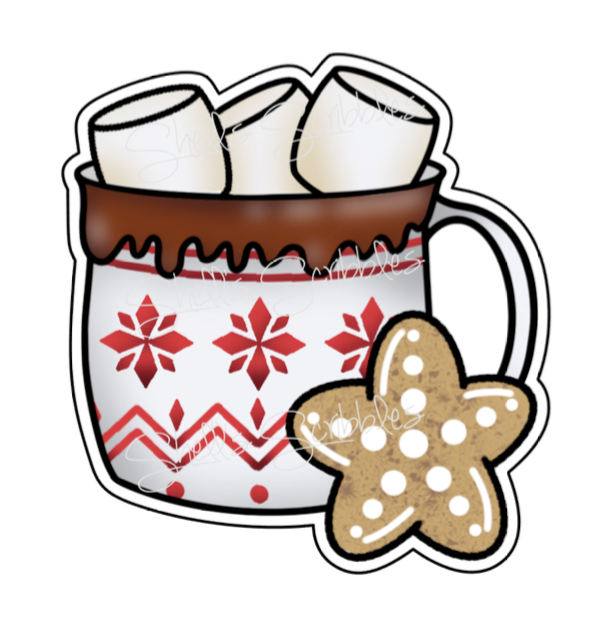 Sticker Die Cut - Hot Cocoa