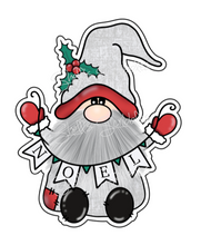 Sticker Die Cut - Noel Banner Gnome