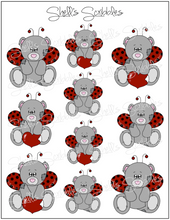 Load image into Gallery viewer, $2 Tuesday - Scribbles - Valentine Bears