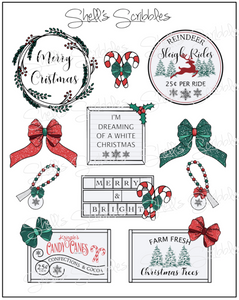Scribbles - Farmhouse Christmas Signs