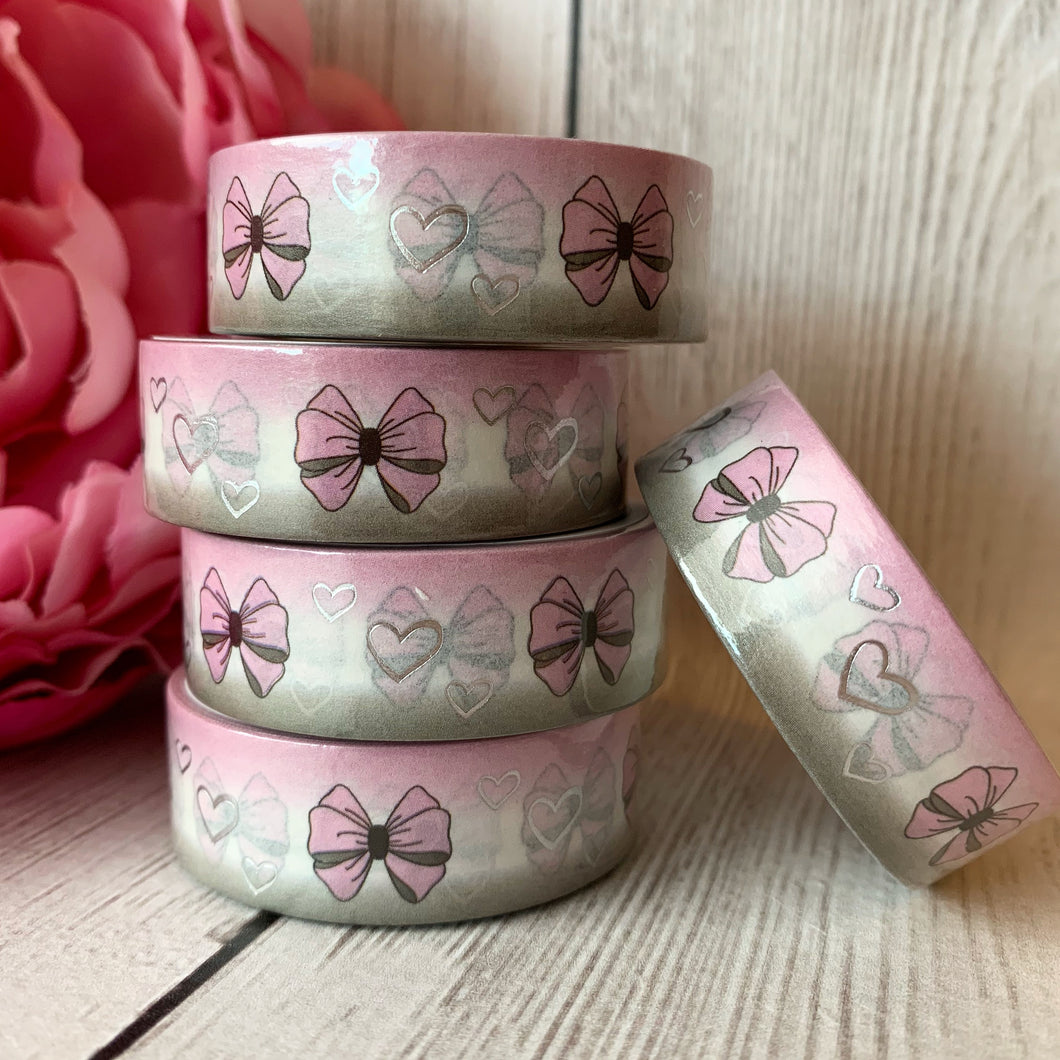Washi - Bows with Silver Foil