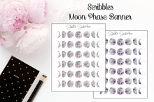 Load image into Gallery viewer, Scribbles - Floral Moon Phase Banner