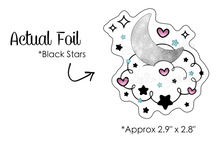 Load image into Gallery viewer, Foiled Die Cut - Celestial Dreams - Holographic Stars Foil