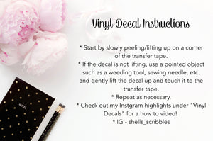 Vinyl Decal - Crystals