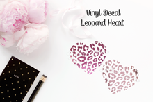 Vinyl Decal - Leopard Heart