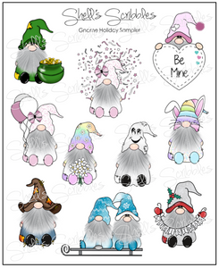 Scribbles - Gnome Holiday Sampler
