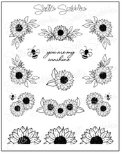 Load image into Gallery viewer, Clear Foiled Stickers - Sunflower