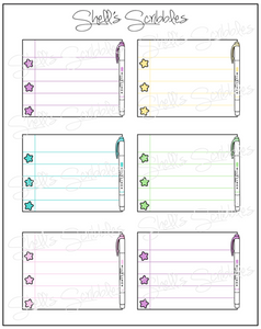 Scribbles - Highlighter Checklist Box - Stars