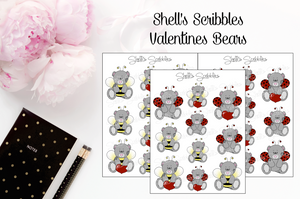$2 Tuesday - Scribbles - Valentine Bears