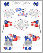 Scribbles - 4th of July Gnomes