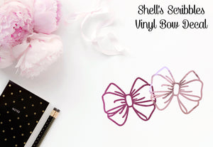 Vinyl Decal - Shell's Scribbles Bow