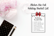 Sticker Die Cut - Holiday Bucket List