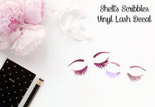 Vinyl Decal - Lashes