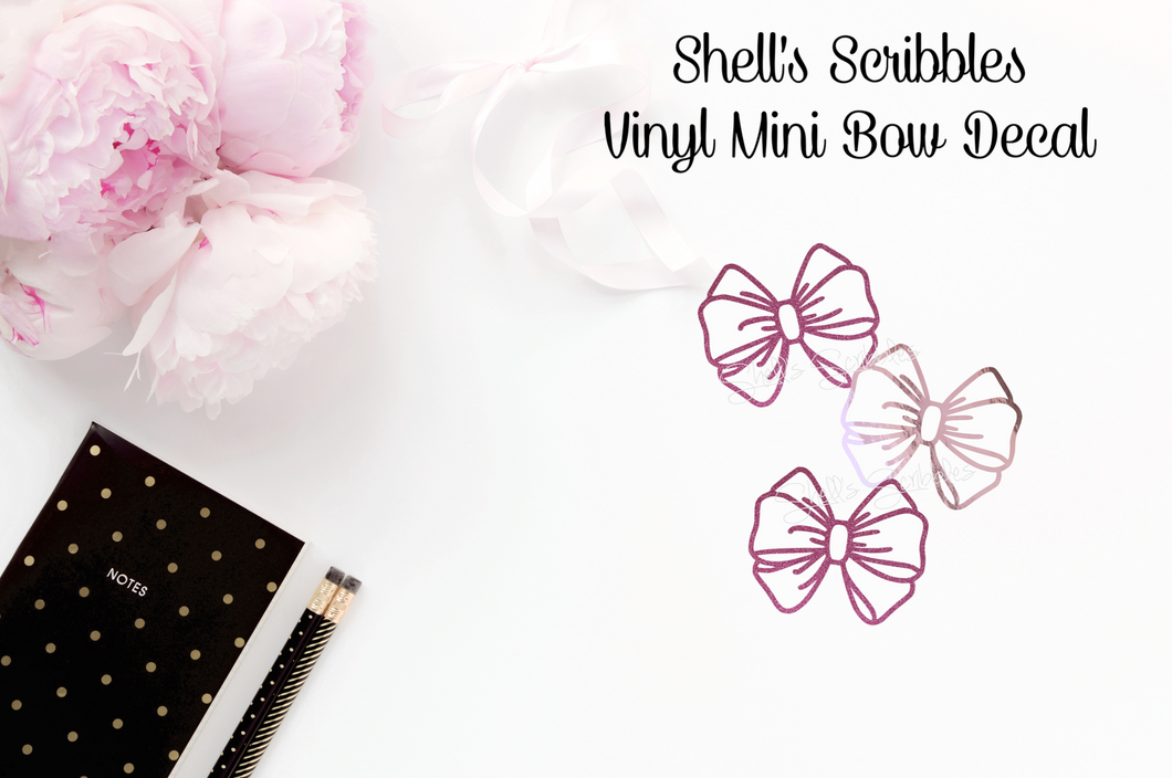 Vinyl Decal - Shell's Scribbles Baby Bow