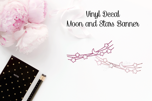 Vinyl Decal - Moon Banner